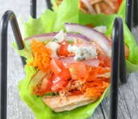 Buffalo Chicken Lettuce Tacos