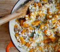 Recipe: Butternut Squash and Sausage Risotto