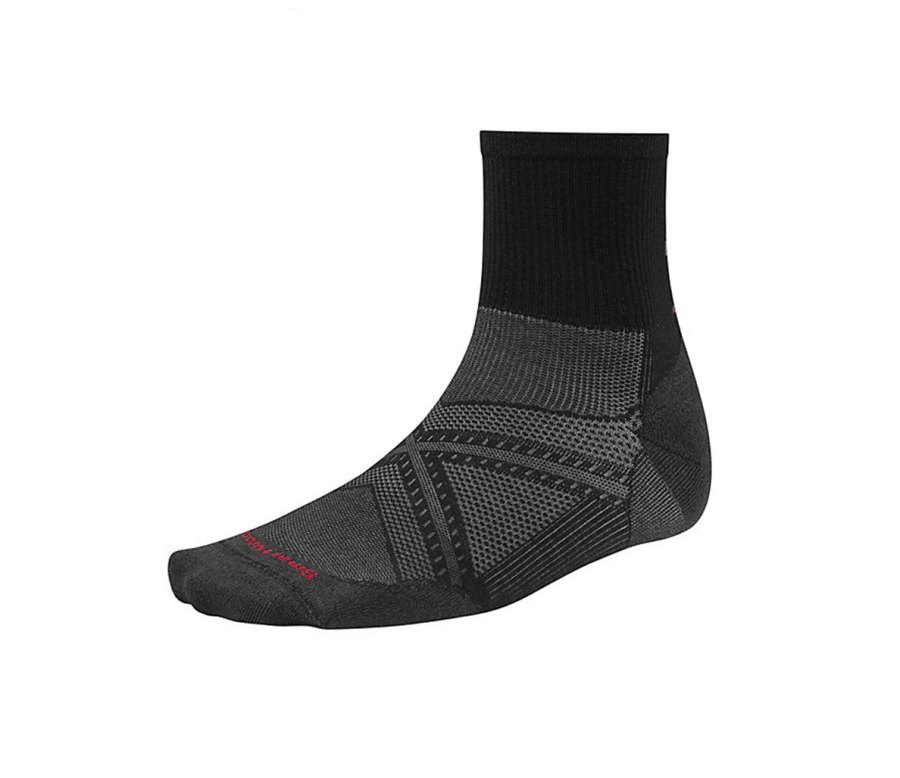Smartwool Men's PhD Run Ultra Light Mid Crew Socks