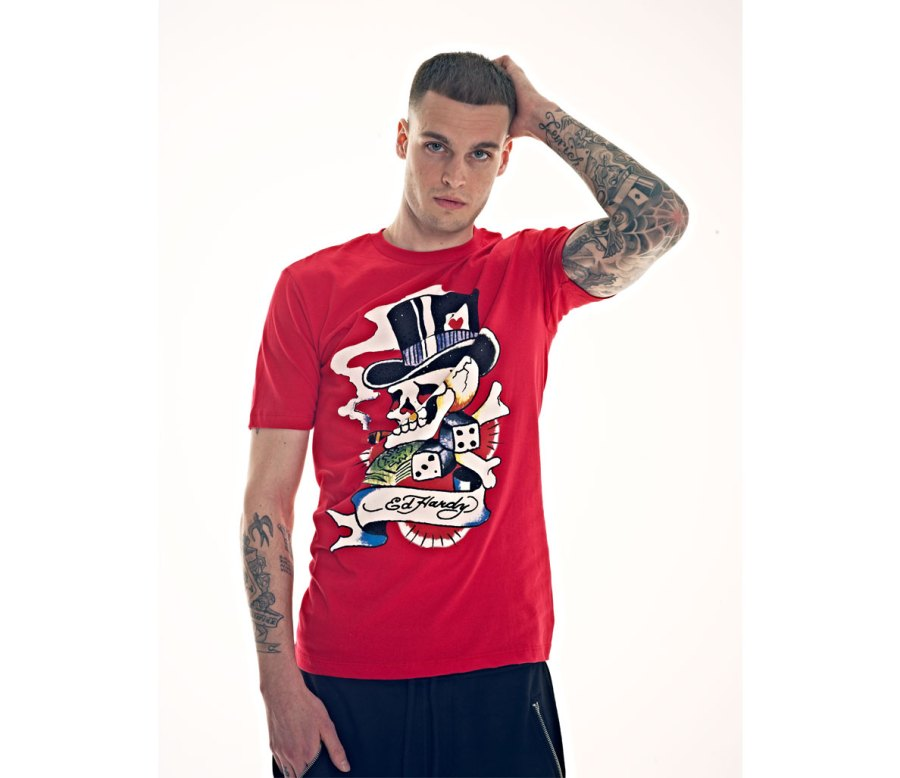 "Ed Hardy Men's ""Smoking Skull"" T-Shirt"