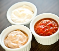 1. Trash: High-calorie dips, spreads, and condiments
