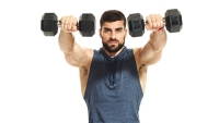 Hammer Your Shoulders and Quads With Squat Dumbbell Punches