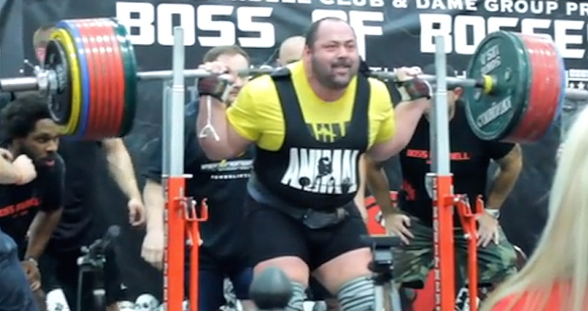Watch: Powerlifter Squats 1,036 Pounds, Breaks World Record