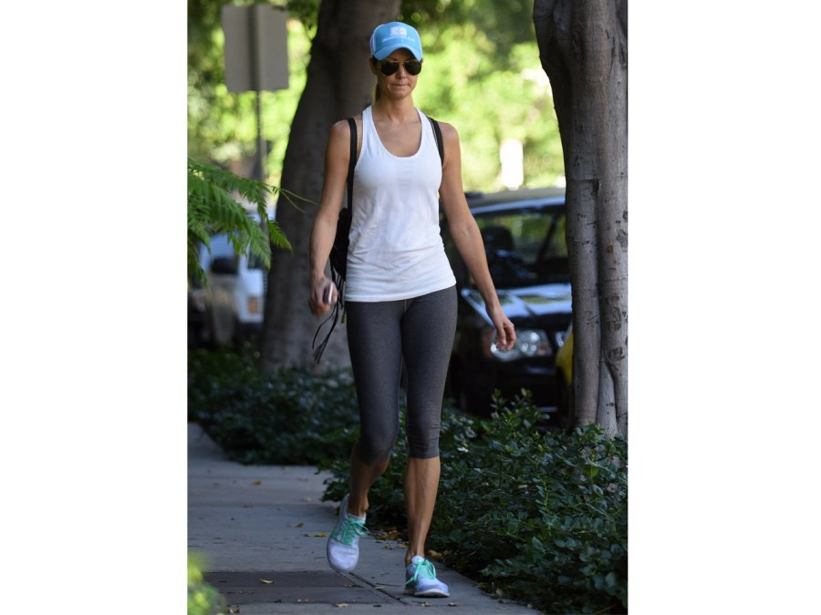 Stacy Keibler Shows Off Post-Baby Body Looking Healthy & Slim
