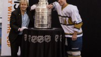 Man standing with Stanley Cup