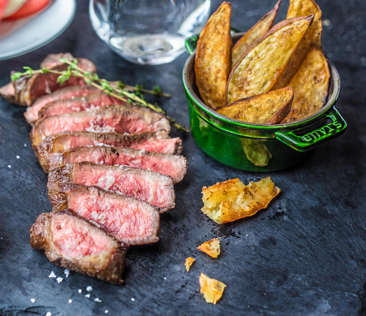 How to Cook Steak and Yam Fries—A Friday Night Dinner Idea