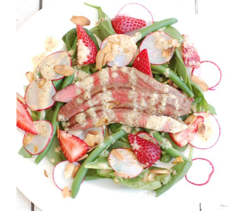 10 at home romantic dinner recipe ideas to impress your girlfriend 2 steak salad with champagne shallot vinaigrette forumfinder Gallery