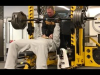 Watch NFL Linebacker James Harrison Crush a 425-lb Bench Press After Leading the Steelers Playoff Win