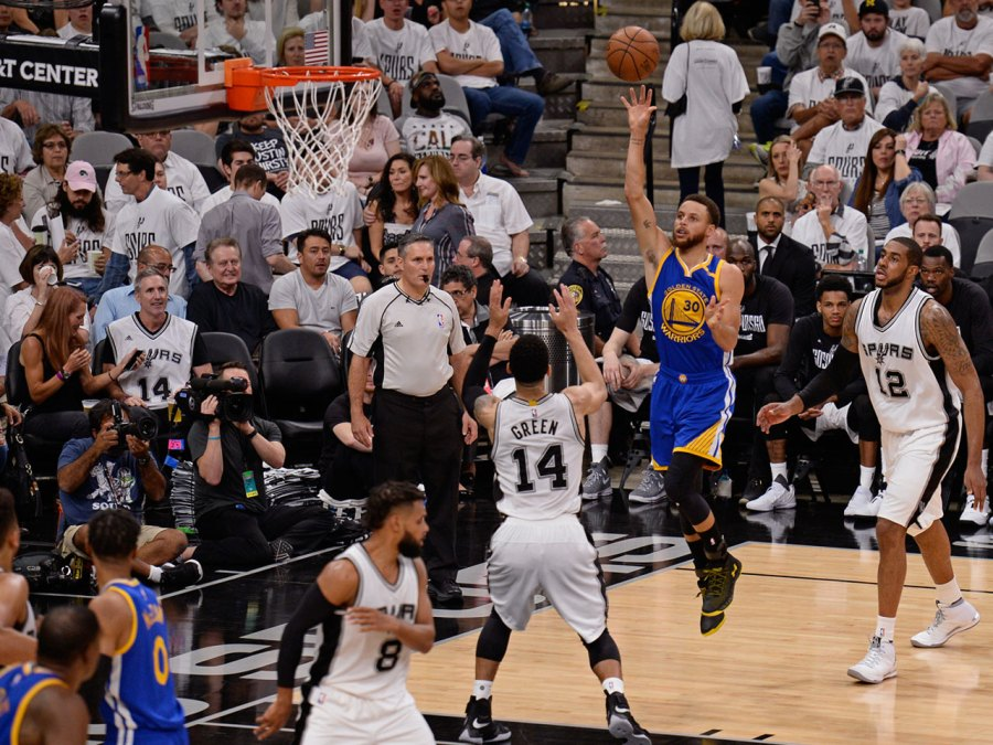 Steph Curry, Warriors against Spurs