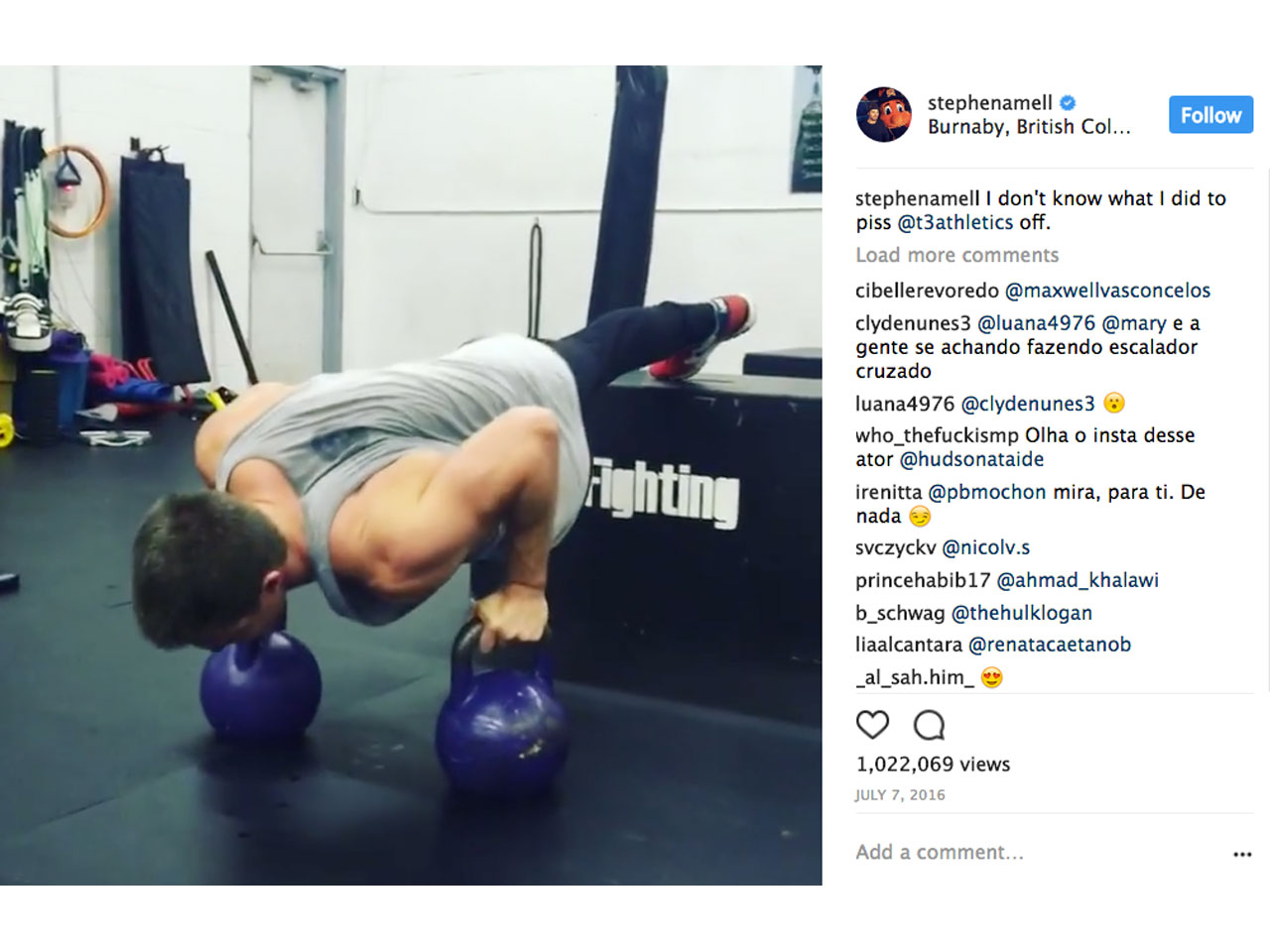 11 Times Arrow' Star Stephen Amell Crushed His Workouts on Instagram