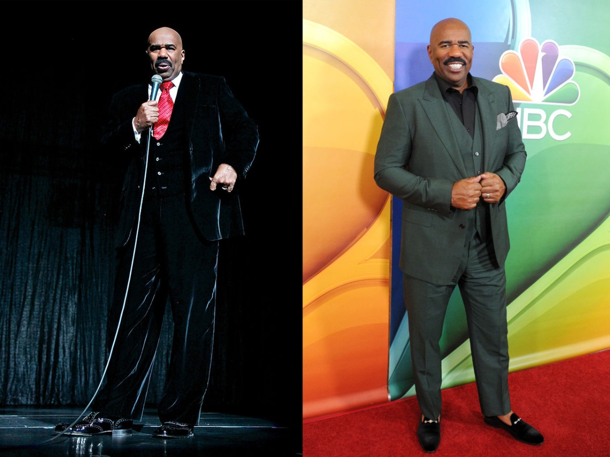 Photos: Steve Harvey Outdoor Workout and Weight Loss