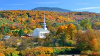 Fall Foliage In Stowe, Vermont