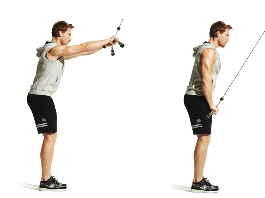 Man doing Straight-Arm Pulldown