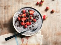 Berries and chia seed pudding