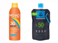 Aqua-Armor 50+ by Watermans Sunscreen and No-As Sport Continuous Spray Sunscreen, SPF 30