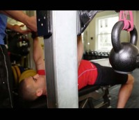 How to do a super band kettlebell chest press