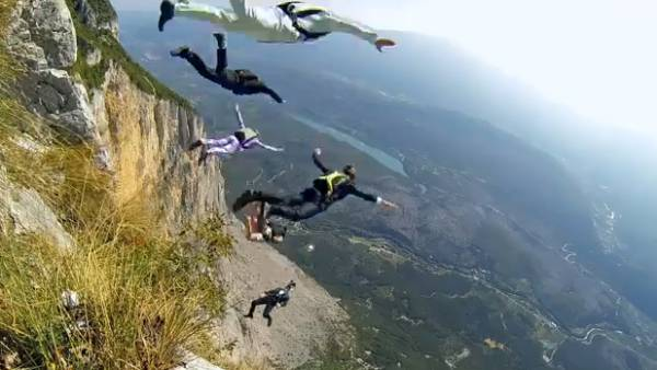 Supermodel Base Jumps with GoPro