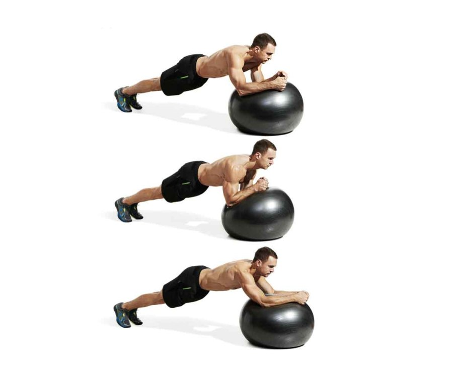 Stability Ball Plank Rotations