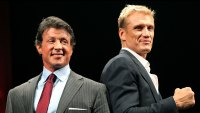 Sylvester Stallone and Dolph Lundgren