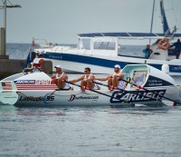 Latitude 35, a team of Americans, competes in the Talisker Whisky Atlantic Challenge.