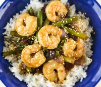 Quick Teriyaki Shrimp and Asparagus