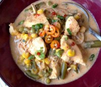 10. Thai curry chicken and vegetable soup