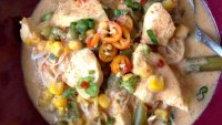 Thai Curry Chicken and Vegetable Soup