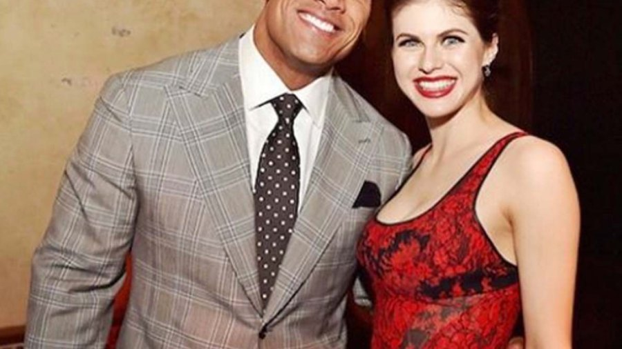 """Alexandra Daddario is set to appear in """"Baywatch"""" with Dwayne """"The Rock"""" Johnson."""