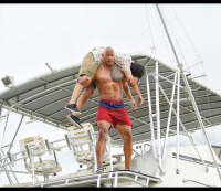 Dwayne The Rock Johnson has massive legs on the Baywatch movie set. / Instagram @therock