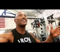 The Rock welcomes you to the Iron Gym to motivate your workout / Instagram @therock