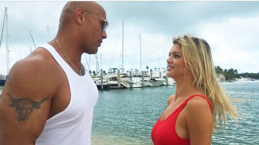"""Dwayne """"The Rock"""" Johnson and Kelly Rohrbach"""