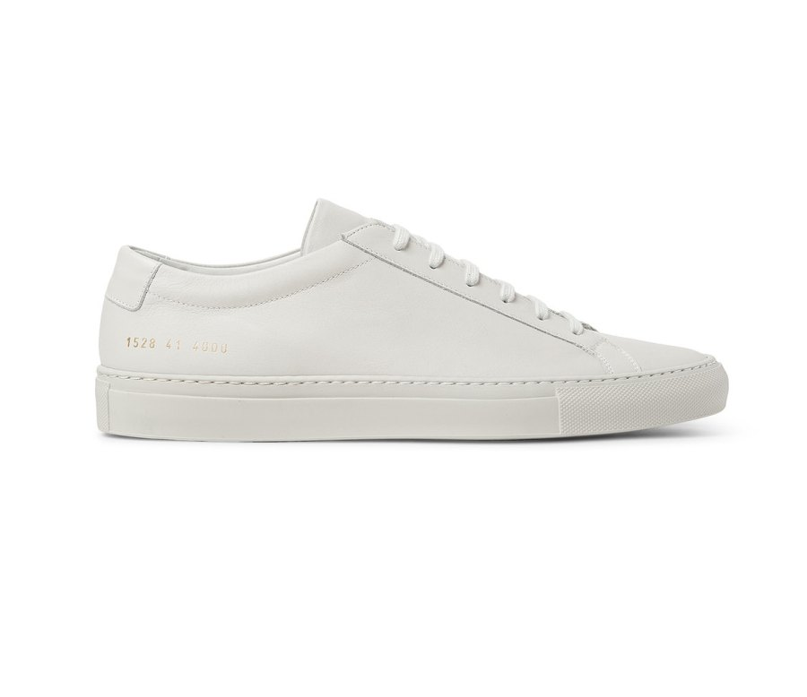 The Court White Leather Sneaker by Common Projects