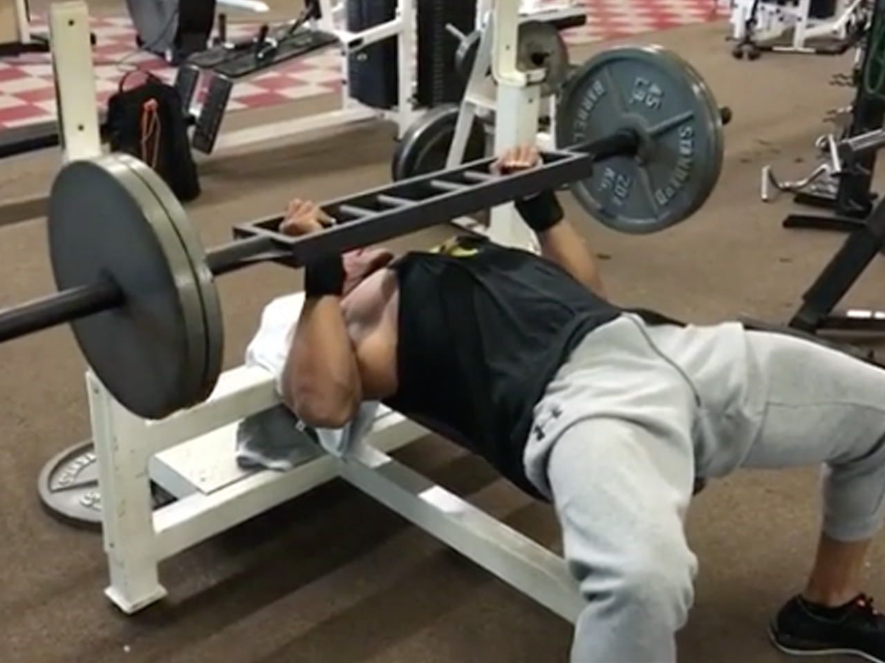 Dwayne Johnson Preps For Rampage Filming With An Epic Bench Press Workout