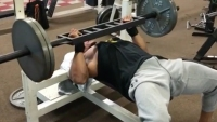 The Rock benching weight.