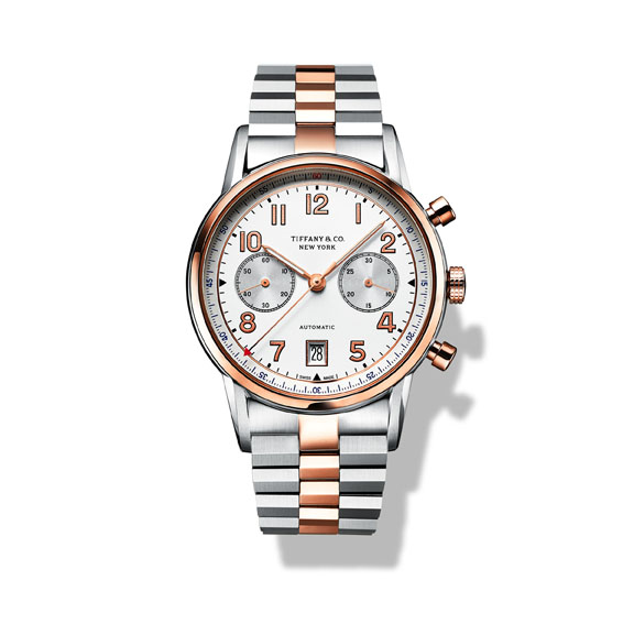 Tiffany CT60R Watch in 18k Rose Gold