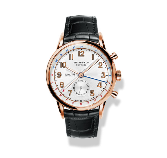 The Tiffany CT60 watch in 18k rose gold