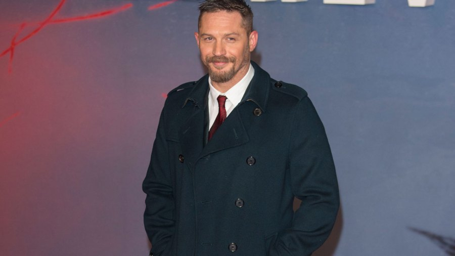 Tom Hardy attends the UK Premiere of 'The Revenant' at Empire Leicester Square on January 14, 2016 in London, England.