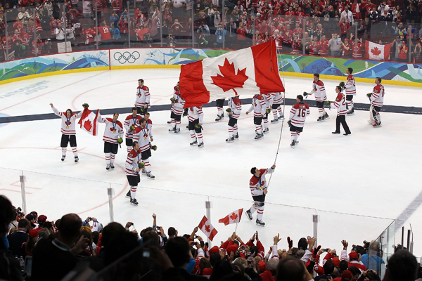 10. 2010: The Canadians defend their home ice against the U.S.