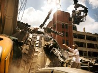 Mark Wahlberg and Michael Bay on the Set of Transformers