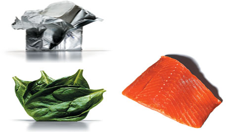 3-Ingredient Meals: Salmon, Cream Cheese and Spinach