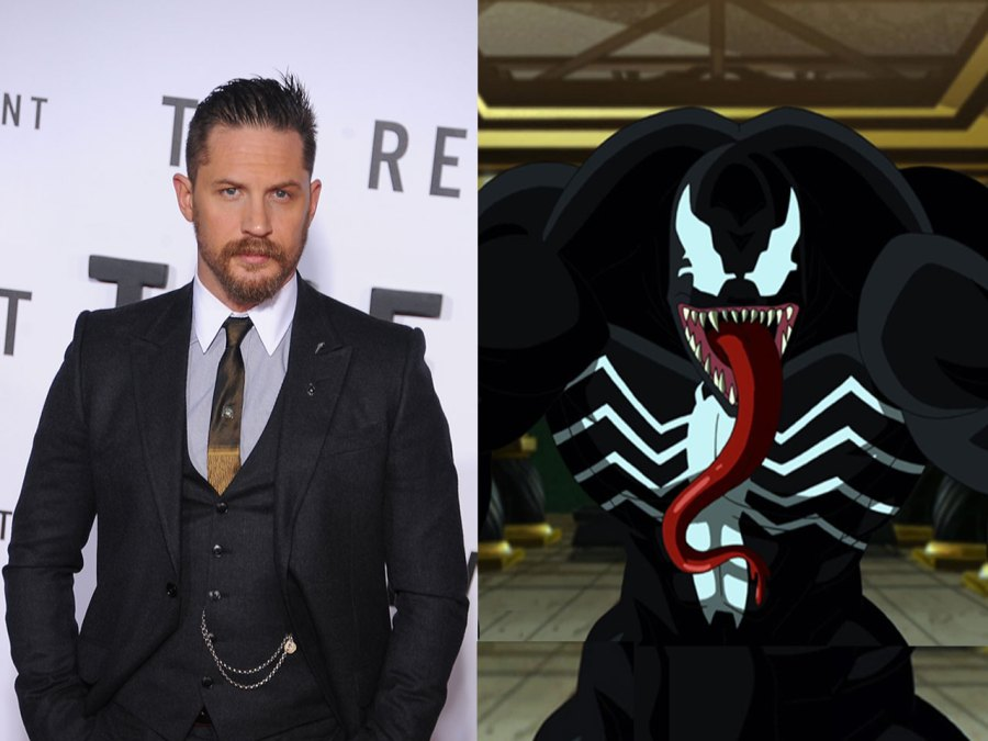 Tom Hardy and Venom costume