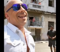 Vin Diesel celebrates his arrival in Cuba for the filming of 'Fast 8.' via Instagram / @vindiesel