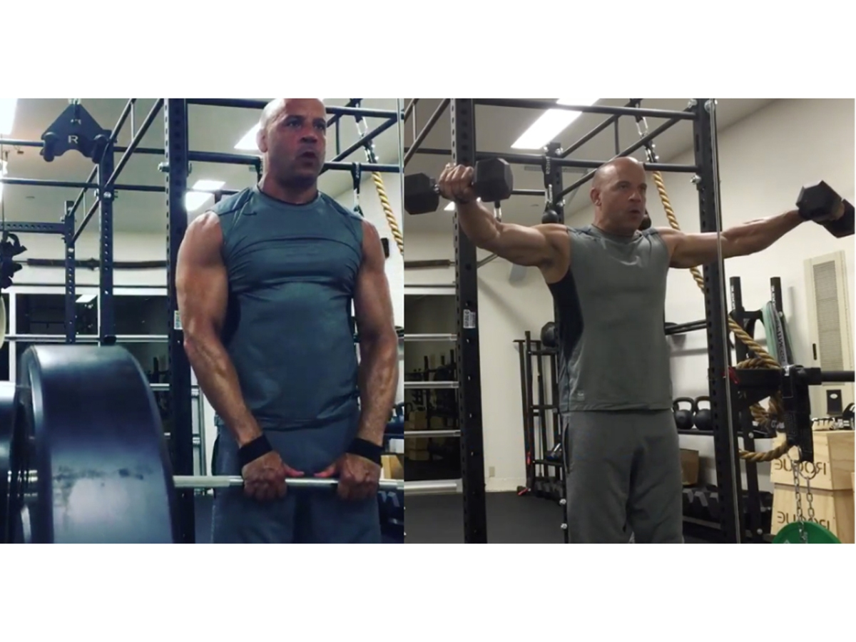 Vin Diesel's 10 most muscular moments in the gym on Instagram