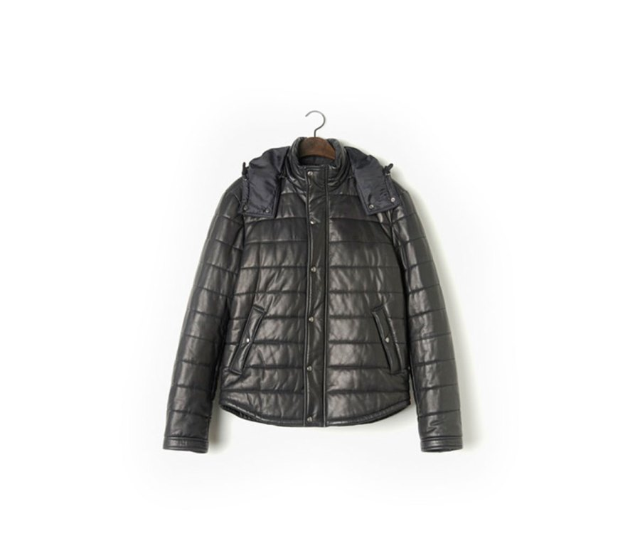 Quilted Leather Puffer