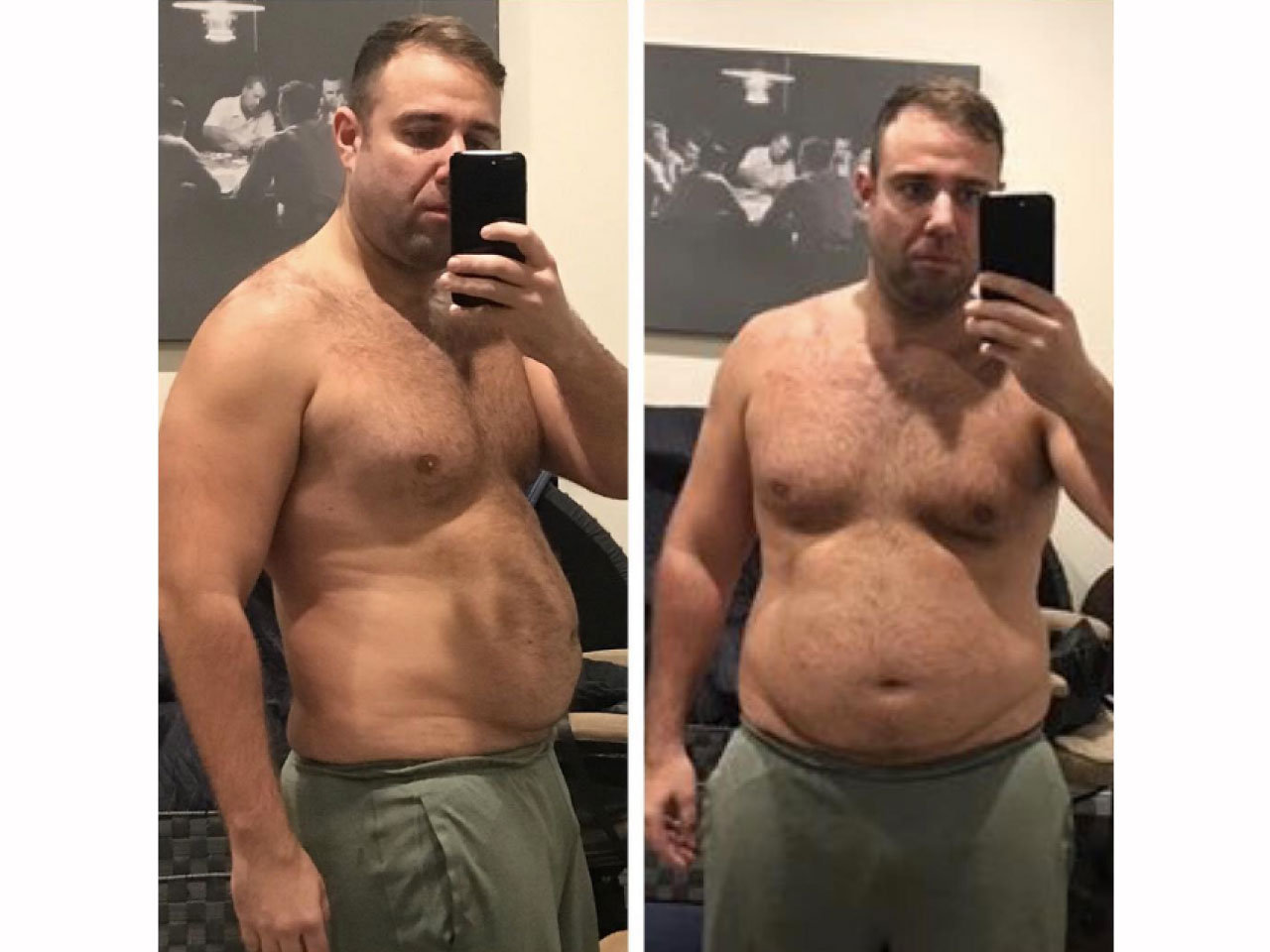 Walter Fisher before 70-pound weight loss transformation