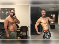 Walter Fisher before and after $1 million bet to get under 10% body fat