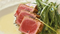 Seared Tuna With Beans & Wasabi