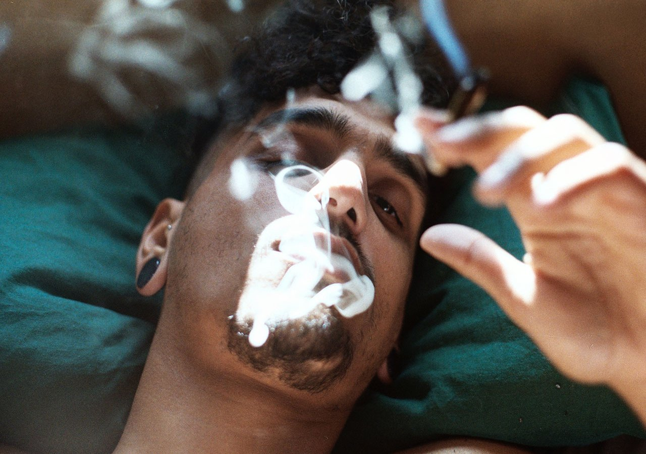 Image result for smoking sleeping