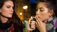 Women Smoking Marijuana