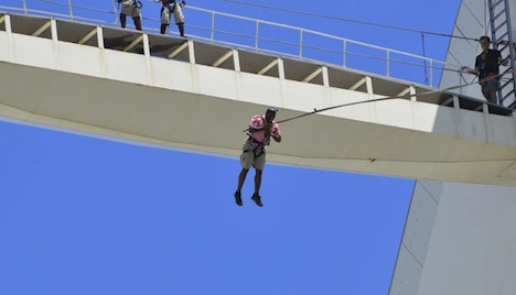 World Wide Nate jumps 374 feet over a soccer stadium in Durban, South Africa